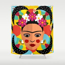 Frida Print Shower Curtain