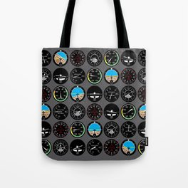 Flight Instruments Tote Bag