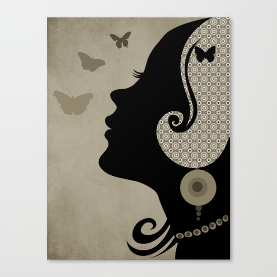 madame butterfly (II) Canvas Print