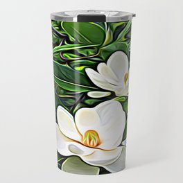 White Flowers of the Purest Essence Travel Mug