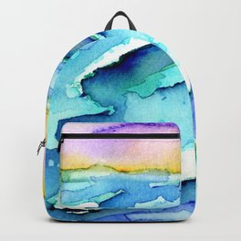 violet clouds - beach at sunset Backpack