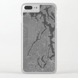 Puget Sound Washington State Nautical Chart Map Print 1956, Map Art Prints Clear iPhone Case