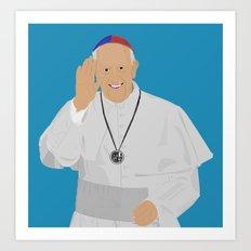 Pope Francis - San Lorenzo version Art Print