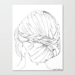 Braid line drawing Canvas Print
