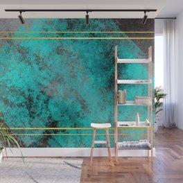 Textured Turquoise Diamonds Wall Mural