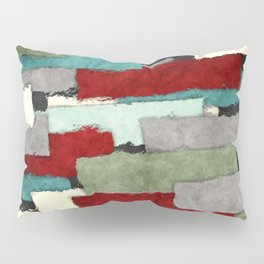 Colorful Patches Abstract Pillow Sham