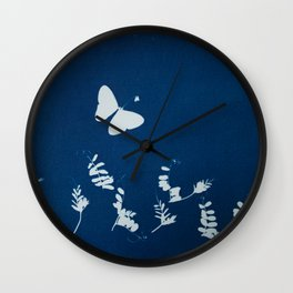 Cyano-butterfly Wall Clock