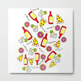Vices - Illustration Metal Print