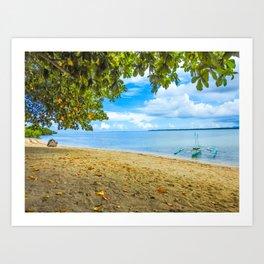 Isla ng Cowrie Art Print