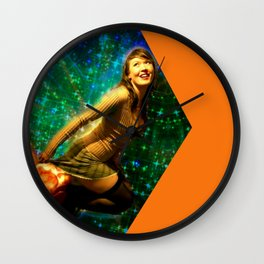 Galaxy Toot Girl | Sexy Pin Up Humor Wall Clock