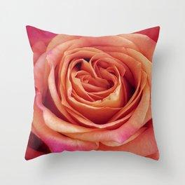 A Summer Bouquet 12 - orange rose Throw Pillow