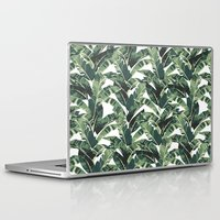 banana leaf Laptop & iPad Skins featuring BANANA LEAF by bows & arrows