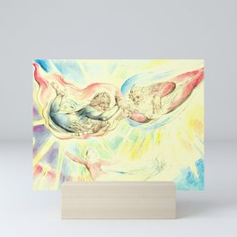 """William Blake """"St. Peter and St. James with Dante and Beatrice"""" Mini Art Print"""