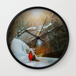 Enjoying the golden morning light Wall Clock