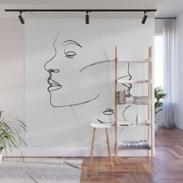 """"""" Profile Collection """" - Two faces Wall Mural"""