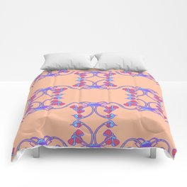 Nouveau styled double rose Comforters