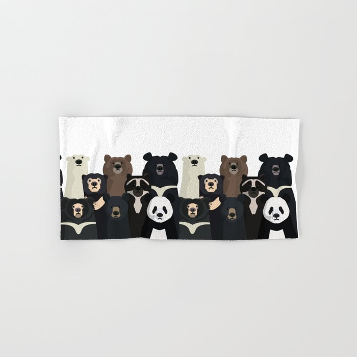 Bear family portrait Hand & Bath Towel