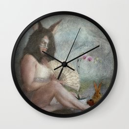The Easter Bunny...  Wall Clock