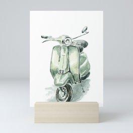 Mint Vespa Mini Art Print