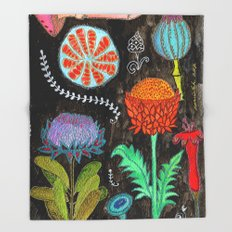 Gardening At Night Throw Blanket