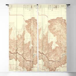 1948 Topographical Map of the Grand Canyon National Park in Arizona Blackout Curtain