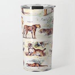Vintage Antique Wildlife Encyclopedia Print Travel Mug