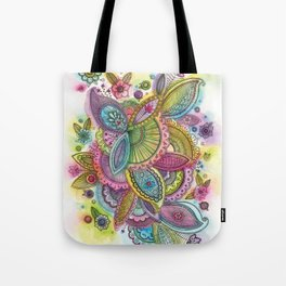 Fairground Paisley Tote Bag
