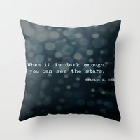 quotes Throw Pillows featuring Quotes by Kayla Phan