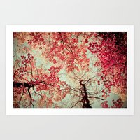 trees Art Prints featuring Autumn Inkblot by Olivia Joy StClaire