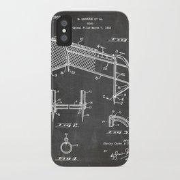 Soccer Patent - Soccer Goal Art - Black Chalkboard iPhone Case