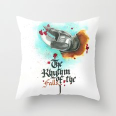 The rhythm of the falls Throw Pillow