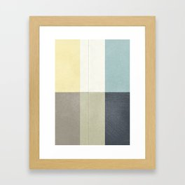 Contemporary art painting, geometric modernism, abstract canvas for home decoration, living room wal Framed Art Print