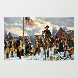 Washington At Valley Forge Rug