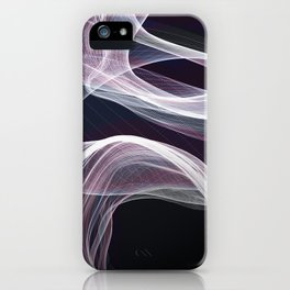 Moody & Beautiful Smoky lacy flux - black, blue, pink #abstractart iPhone Case