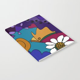 """""""Before the Celebration"""" bold, colorful doodle art Notebook"""