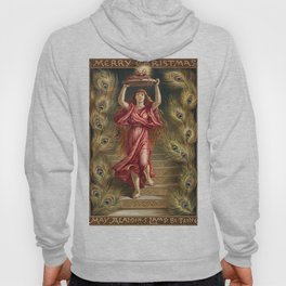 A woman holding lamp with flame from Aladdins Lamp by Joaquin Millers poem Hoody