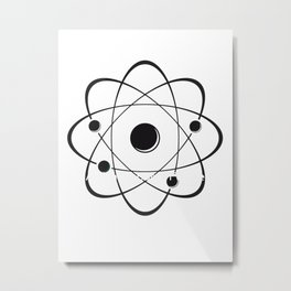 atoms logo Metal Print