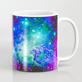 Fox Fur Nebula Galaxy Pink Purple Blue Coffee Mug