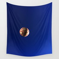soccer Wall Tapestries featuring Soccer Weather by shelbiedewitt