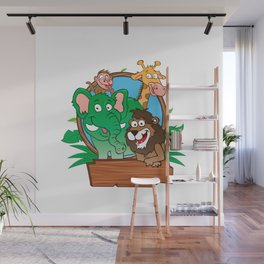 zoo animals Wall Mural