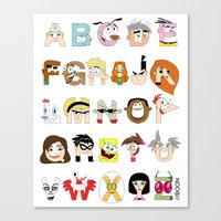 Child of the 00s Alphabet Canvas Print