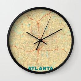 Atlanta Map Retro Wall Clock