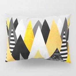 Yellow Peaks Pillow Sham