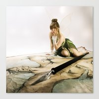 tinker bell Canvas Prints featuring Tinker Bell by Julie-Chantal
