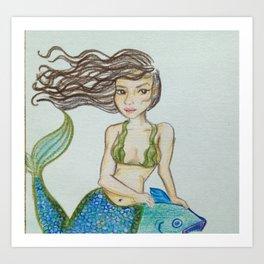 Seaweed Serena Art Print