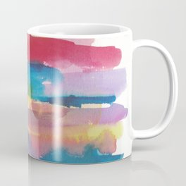 180812 Abstract Watercolour Expressionism 1| Colorful Abstract | Modern Watercolor Art Coffee Mug