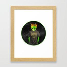 Kush Alien Tee by Igh Kihl Media Framed Art Print