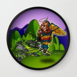 Angel de Machu Picchu Wall Clock