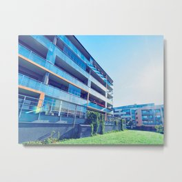Apartment residential buildings with outdoor facilities Metal Print