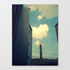 Chicago Clouds and Smokestack Canvas Print